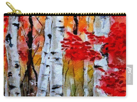 Birch Trees In Fall - Carry-All Pouch