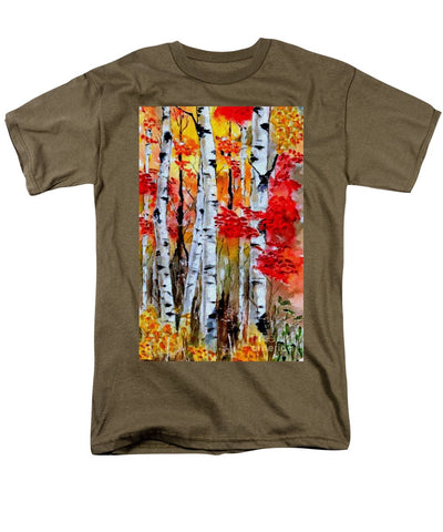Birch Trees In Fall - Men's T-Shirt  (Regular Fit)