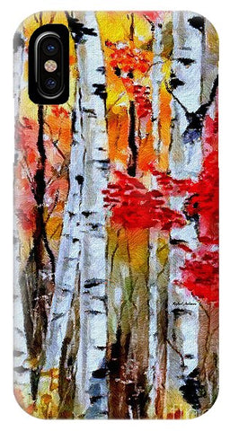 Birch Trees In Fall - Phone Case