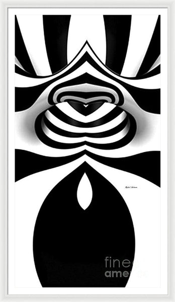Framed Print - Black And White Tunnel