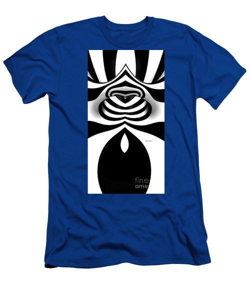 Men's T-Shirt (Slim Fit) - Black And White Tunnel