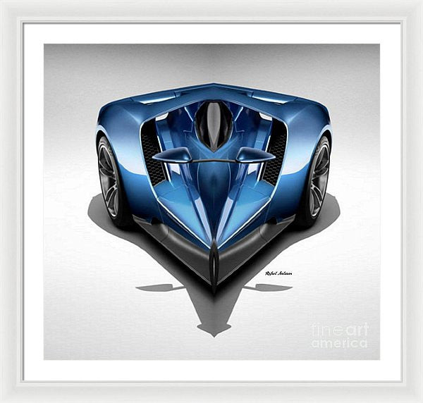Framed Print - Blue Car 002