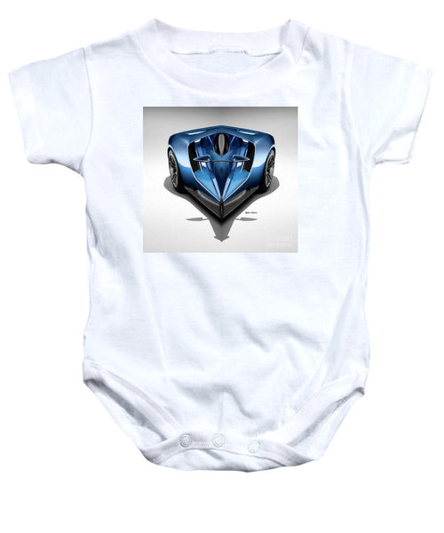 Baby Onesie - Blue Car 002