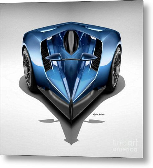 Metal Print - Blue Car 002