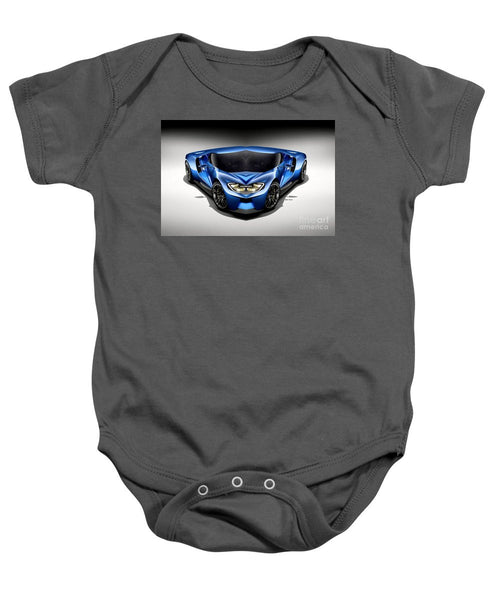 Baby Onesie - Blue Car 003