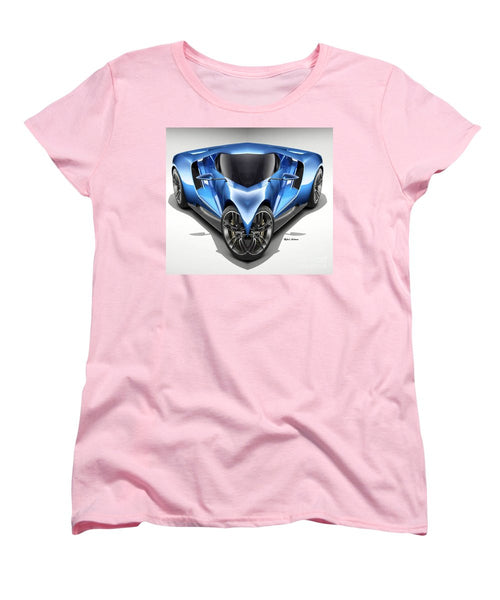 Women's T-Shirt (Standard Cut) - Blue Car 01