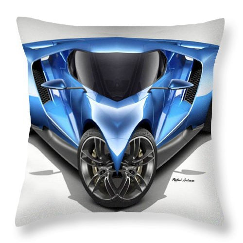 Throw Pillow - Blue Car 01