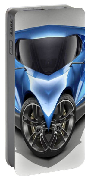 Portable Battery Charger - Blue Car 01