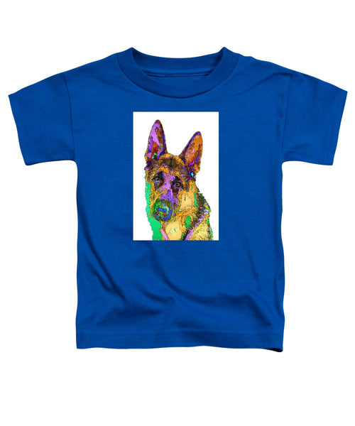 Toddler T-Shirt - Bogart The Shepherd. Pet Series