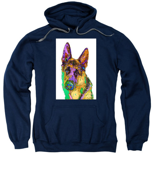 Sweatshirt - Bogart The Shepherd. Pet Series
