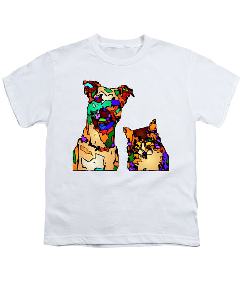 Youth T-Shirt - Buddies For Life. Pet Series
