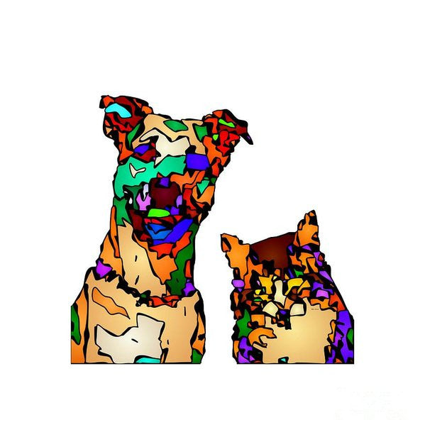 Art Print - Buddies For Life. Pet Series