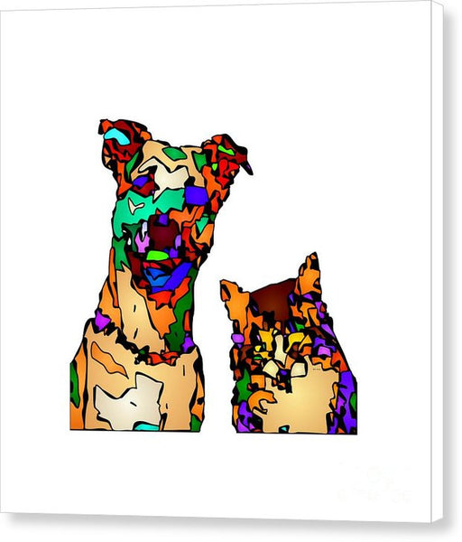 Canvas Print - Buddies For Life. Pet Series