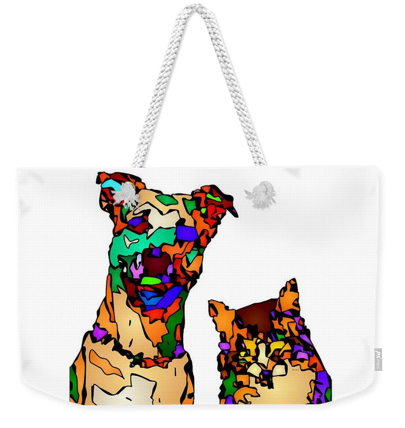 Weekender Tote Bag - Buddies For Life. Pet Series