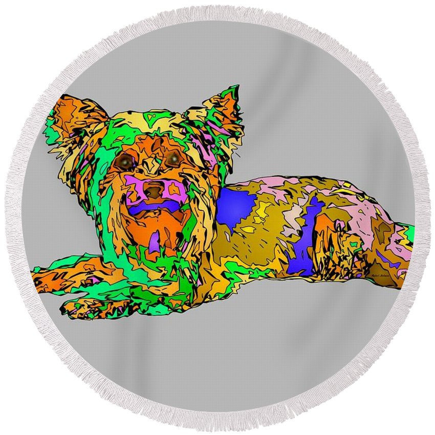Round Beach Towel - Buddy. Pet Series