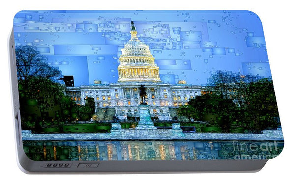 Portable Battery Charger - Capitol In Washington D.c