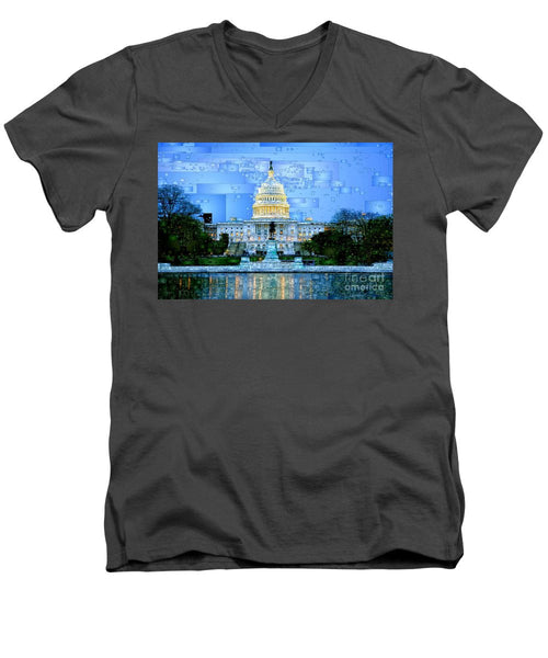 Men's V-Neck T-Shirt - Capitol In Washington D.c