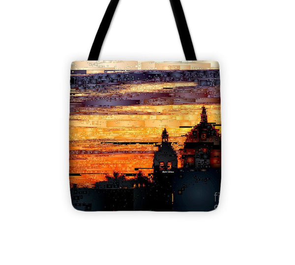 Tote Bag - Cartagena Colombia Night Skyline