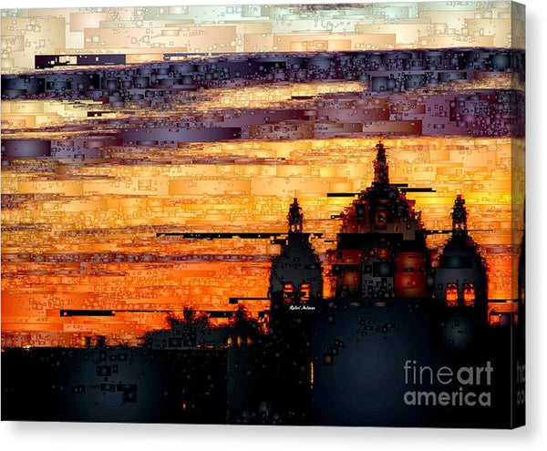 Canvas Print - Cartagena Colombia Night Skyline