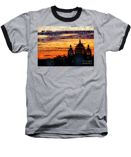 Baseball T-Shirt - Cartagena Colombia Night Skyline