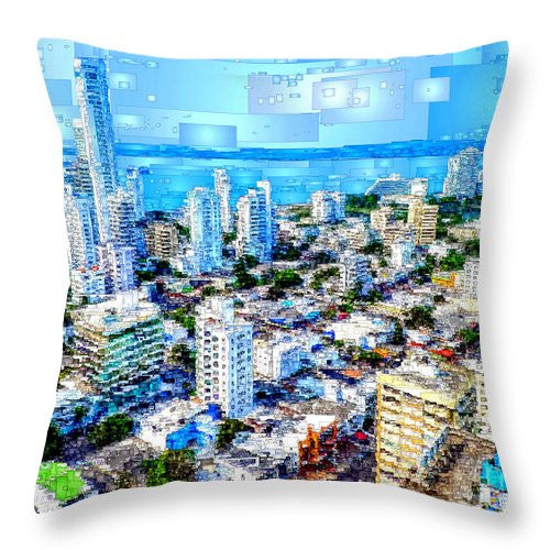Throw Pillow - Cartagena, Colombia
