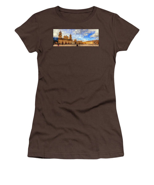 Women's T-Shirt (Junior Cut) - Cathedral, Bogota Colombia