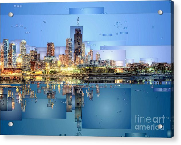 Acrylic Print - Chicago Lake Michigan