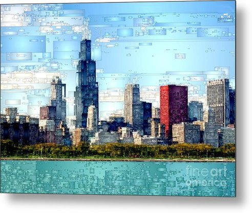 Metal Print - Chicago Skyline