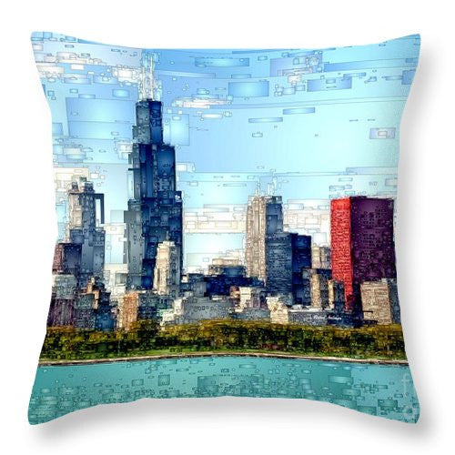 Throw Pillow - Chicago Skyline