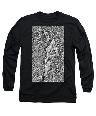 Long Sleeve T-Shirt - Classic Beauty In Black And White
