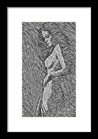 Framed Print - Classic Beauty In Black And White