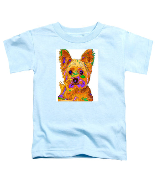 Toddler T-Shirt - Cupcake The Yorkie. Pet Series