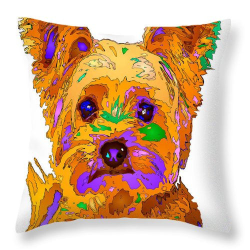 Throw Pillow - Cupcake The Yorkie. Pet Series