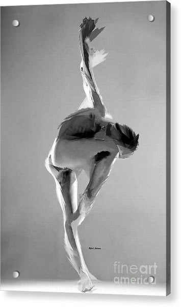 Acrylic Print - Dance Pose In Black And White