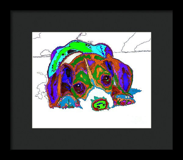 Framed Print - Do You Want To Take A Nap? Pet Series
