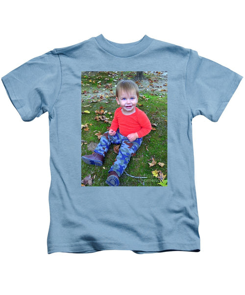 Kids T-Shirt - Enjoying The Fall
