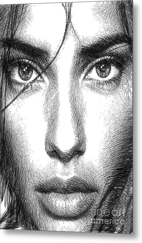 Metal Print - Female Expressions 936