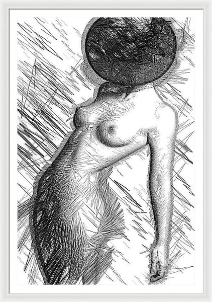 Framed Print - Female Figure Sketch 1266