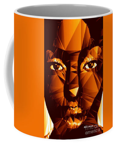 Female Portrait In Brown - Mug