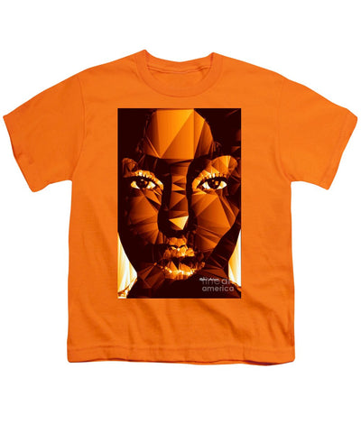 Female Portrait In Brown - Youth T-Shirt