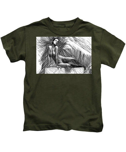Kids T-Shirt - Female Pose For Studio Drawing 1447