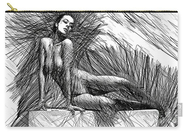 Carry-All Pouch - Female Pose For Studio Drawing 1447