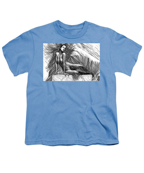 Youth T-Shirt - Female Pose For Studio Drawing 1447