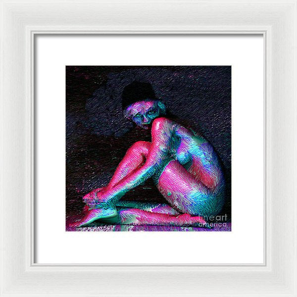Framed Print - Female Posing