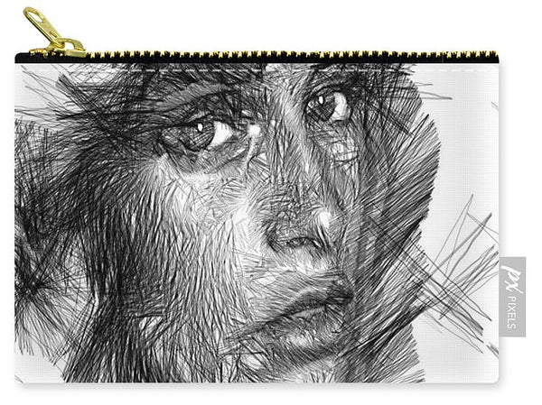 Carry-All Pouch - Female Sketch In Black And White