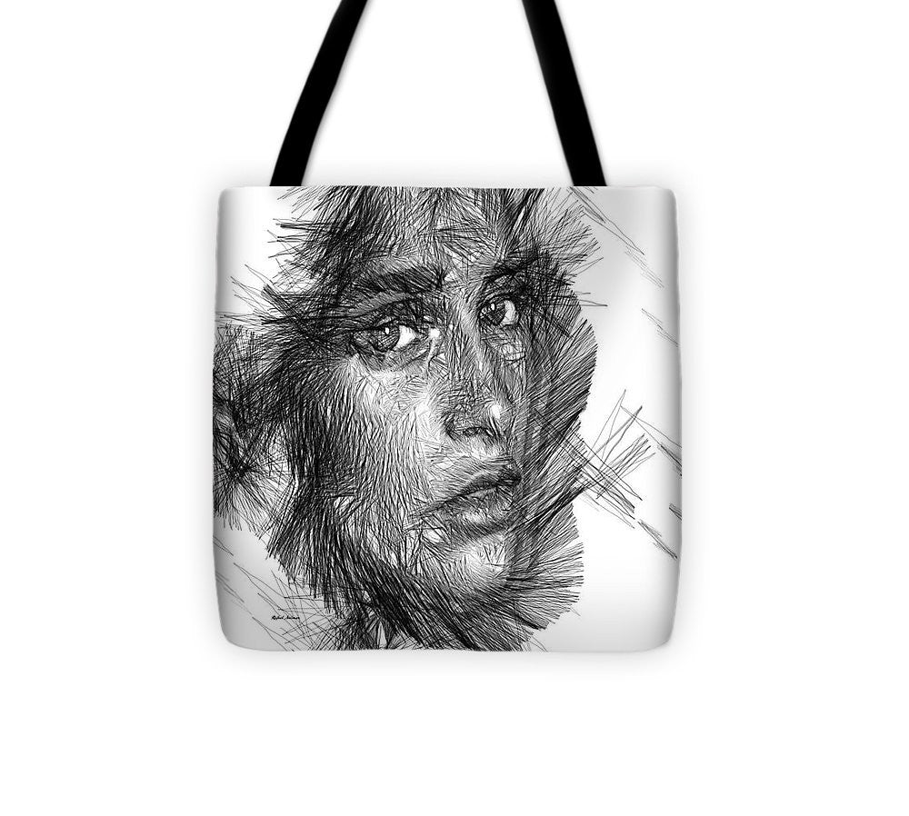 Tote Bag - Female Sketch In Black And White