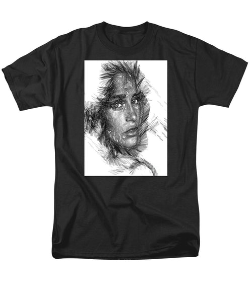 Men's T-Shirt  (Regular Fit) - Female Sketch In Black And White
