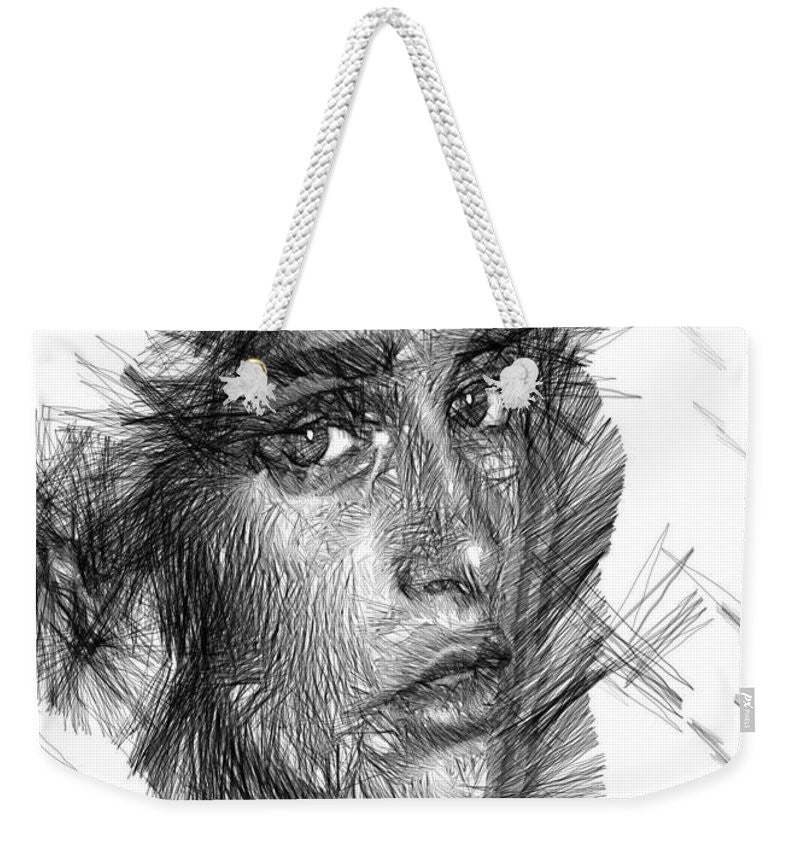 Weekender Tote Bag - Female Sketch In Black And White