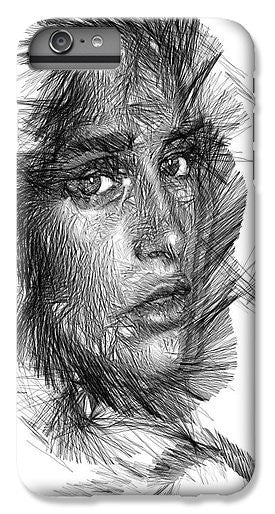 Phone Case - Female Sketch In Black And White