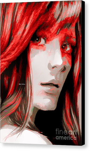 Canvas Print - Female Sketch In Red